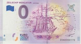 Billet Touristique 0 Euro Souvenir Belgique Zeilship Mercator 2018-1 N°ZEAE000170 - EURO