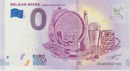 Billet Touristique 0 Euro Souvenir Belgique Belgian Beers 2018-1 N°ZEAD000166 - Essais Privés / Non-officiels