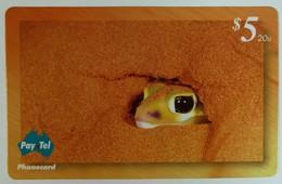 AUSTRALIA - PayTel - $5 - Complimentary - Smooth Knob-tailed Gecko - MINT In Folder - Australia