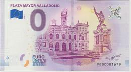 Billet Touristique 0 Euro Souvenir Espagne Plaza Mayor Valladolid 2018-1 N°VEBC001679 - Essais Privés / Non-officiels