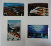 AUSTRALIA - PayTel - $5 & $10 - TGV Atlantique High Speed Train,TGV Sud-Est, ICT Inter City Tilt & Cons - MINT In Folder - Australia
