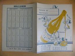 Année 60  1 Protège Cahier Avec Son Buvard HUILE LESIEUR - Maps