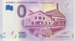 Billet Touristique 0 Euro Souvenir Finlande Suomen Lasimuseo Riihimaki 2018-1 N°LEAG004664 - Essais Privés / Non-officiels
