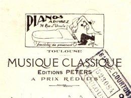 PETERS    Editeur De Musique Classique   Pianos Lombez   TOULOUSE       Illustration - Cambiali