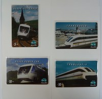 AUSTRALIA - PayTel - $5 & $10 - X2000 Tilt Train Sweden, Transrapid Germany, X2000 Power Car - MINT In Folder - Australia