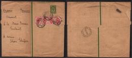 RUSSIE / BANDE DE 4 SUR ENTIER POSTAL POUR LA ROUMANIE - BANDE JOURNAL - WRAPPER (ref 7713) - 1857-1916 Imperium