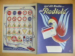 Année 60  1 Protège Cahier Avec Son Buvard RADIOLA D'après Ravo - Maps