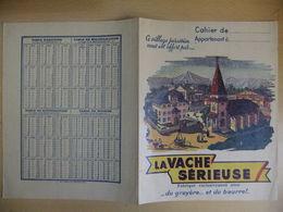 Année 60  1 Protège Cahier Avec Son Buvard  LA VACHE SERIEUSE - Maps