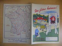 Année 60  1 Protège Cahier Avec Son Buvard CREDIT AGRICOLE - Maps