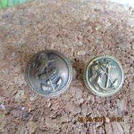 2 WW1 British Navy Buttons - 1914-18