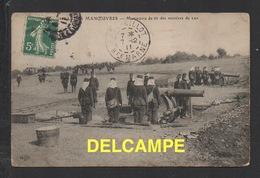 DF / MILITARIA / GRANDES MANOEUVRES : MANOEUVRE DE TIR AU MORTIER DE 220 / CIRCULÉE EN 1911 - Manoeuvres