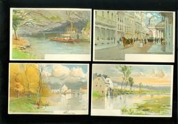 Beau Lot De 15 Cartes Postales De Belgique Illustrateur F. Ranot     Mooi Lot Van 15 Postkaarten Van België   - 15 Scans - Ansichtskarten