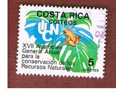 COSTA RICA  -  SG 1470  -  1988 NATURE CONSERVATION: GOLDEN TOAD  -  USED ° - Costa Rica