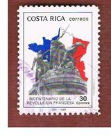 COSTA RICA  -  SG 1489  -  1989 FRENCH REVOLUTION BICENTENARY  -  USED ° - Costa Rica