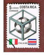 COSTA RICA  -  SG 1498  -  1990 WORLD CUP FOOTBALL  -  USED ° - Costa Rica