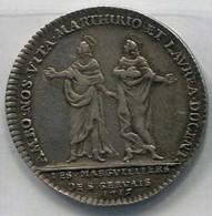 (Medailles). France. Beau Jeton. Paris. Les Commissaires Des Pauvres De St Gervais. 1746. Ag 7g04, 29 Mm F 4196 - Royal / Of Nobility