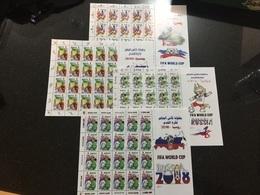 Iraq 2018 MNH Russia World Cup Football Soccer Stamps Full Sheet She - Iraq