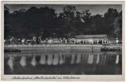 Berlin Steglitz Zehlendorf - S/w Schlachtensee Alte Fischerhütte Nachtaufnahme   Briefmarke Perfin SUE - Steglitz