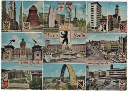 Berlin - Mehrbildkarte 384   Jeder Bezirk Eine Großstadt    Mit Stadtwappen - Allemagne