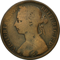 Monnaie, Grande-Bretagne, Victoria, Penny, 1890, B+, Bronze, KM:755 - 1816-1901 : Frappes XIX° S.