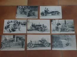 Lot De 8 Cartes Postales Sur Les Voitures - Passenger Cars