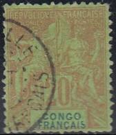 Congo Français 1892-1900 - N° 18 (YT) N° 18 (AM) Oblitéré. - Congo Français (1891-1960)