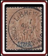 Congo Français 1892-1900 - N° 20 (YT) N° 20 (AM) Oblitéré. - Congo Français (1891-1960)