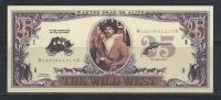 """TZ--090. U.S.A  -  BILLET FAC-SIMILE Sur """" THE WILD WEST - L'OUEST SAUVAGE   """" , SUPERBE  * * , Liquidation - American Indians"""