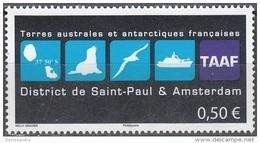 TAAF 2015 Yvert 741 Neuf ** Cote (2017) 1.00 Euro Logo District Saint-Paul Et Amsterdam - Ongebruikt