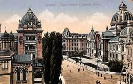 Romania - Bucuresti - Calea Victoriei Si Biserca Slatari (animation, Stamps, 1921) - Roumanie