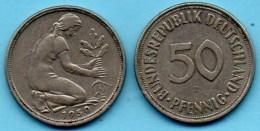 GERMANY / ALLEMAGNE RFA  50 Pfennig 1950 J - [ 7] 1949-… : FRG - Fed. Rep. Germany