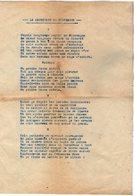VP12.975 - MILITARIA - Chanson Originale - La Captivité En Allemagne - Documents