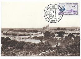 1962 - OBLITERATION ILLUSTREE (SONDERSTEMPEL) - JOURNEES BRETONNEAU à TOURS - Poststempel (Briefe)
