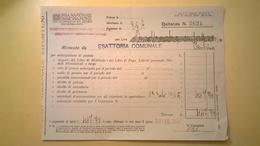 1925 VERSAMENTO TAGLIANDO RICEVUTA ASSICURAZIONE CASSA NAZIONALE INFORTUNI LAVORO SEDE L' AQUILA - Banca & Assicurazione