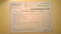 1926 VERSAMENTO TAGLIANDO RICEVUTA ASSICURAZIONE CASSA NAZIONALE INFORTUNI LAVORO SEDE L' AQUILA - Banca & Assicurazione