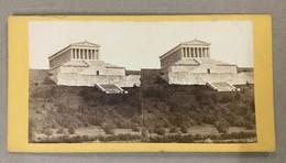 GERMANY   BAIERSCH HOCHLAND  DIE WALHALLA DES DEUTSCH PANTHEON  Photo Stéréoscopique STEREO PHOTO Stereoview - Stereo-Photographie