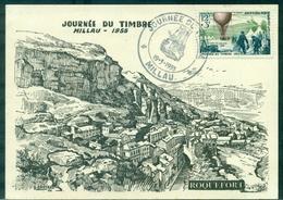 FRANCE Carte Maximum N°1018 J Du T Ballon 1955 TB.carte Millau / Roquefort. - Cartes-Maximum