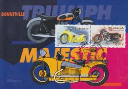 Carte Maximum  1er  Jour   FRANCE   CYLINDREES  Et  CARENAGES  2002 - Motos
