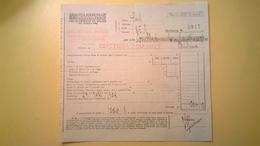 1923 VERSAMENTO TAGLIANDO RICEVUTA ASSICURAZIONE CASSA NAZIONALE INFORTUNI LAVORO SEDE L' AQUILA - Banca & Assicurazione
