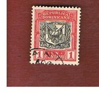 REPUBBLICA DOMENICANA (DOMINICAN REPUBLIC)  - SG 169  -  1907 COAT OF ARMS  - USED - Repubblica Domenicana