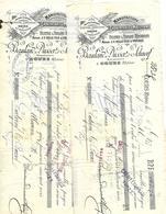 2 Traites 1896 1897 / Rhône COURS / BAULAND, DUSSERT, SCHNORF / WILLE / LA FARGETTE / Manufacture Couvertures Molletons - Cambiali