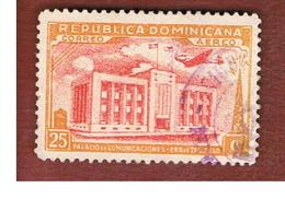 REPUBBLICA DOMENICANA (DOMINICAN REPUBLIC)  - SG 525  -  1944  COMMUNCATIONS BUILDING - USED - Repubblica Domenicana