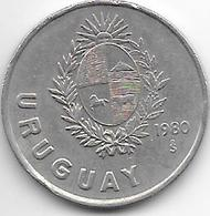 *uruguay 1 Peso 1980 Km 75 - Uruguay