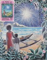 Carte  Maximum  1er Jour   NOUVELLES  HEBRIDES   Noël  1973 - Cartes-maximum