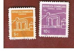 REPUBBLICA DOMENICANA (DOMINICAN REPUBLIC)  - SG 990.993  -  1967  NATIONAL SHRINE        - USED - Repubblica Domenicana