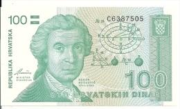 CROATIE 100 DINARA 1991 UNC P 20 - Croacia