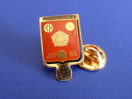 Pin's Rozerieulles JO 92 - Jeux Olympiques Barcelone - Albertville JO 1992 -Moselle (PH17) - Olympic Games