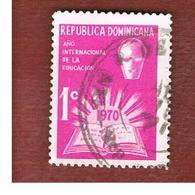 REPUBBLICA DOMENICANA (DOMINICAN REPUBLIC)  - SG 1078  -  1970  INTERN. EDUCATION YEAR       - USED - Repubblica Domenicana