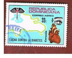 REPUBBLICA DOMENICANA (DOMINICAN REPUBLIC)  - SG 1196  -  1974  ANTI-DIABETS  CAMPAIGN       - USED - Repubblica Domenicana