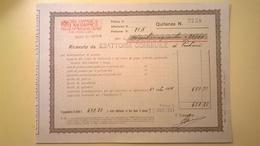 1927 VERSAMENTO TAGLIANDO RICEVUTA ASSICURAZIONE CASSA NAZIONALE INFORTUNI LAVORO SEDE L' AQUILA - Banca & Assicurazione